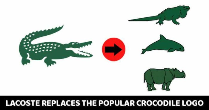 cd17c4af92e3 Famous fashion brand Lacoste has changed it s iconic logo. The green crocodile  logo of Lacoste is one of the most recognized logos in the world.