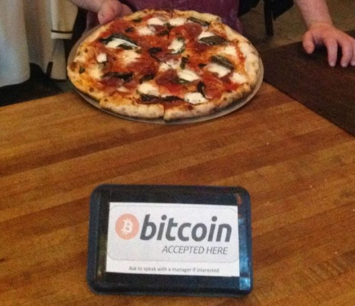 Guy trades bitcoin for pizza