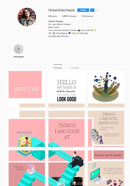20 year old u0026 39 s creative resume on instagram gets her job at