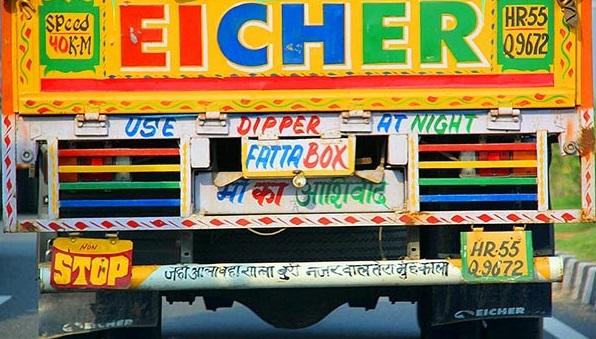 Indian Truck Slogans